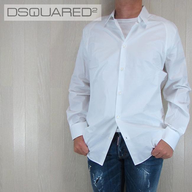 ディースクエアード DSQUARED2 メンズ シャツ カジュアルシャツ トップス S71DL0971100/ホワイト 白 サイズ:50/52