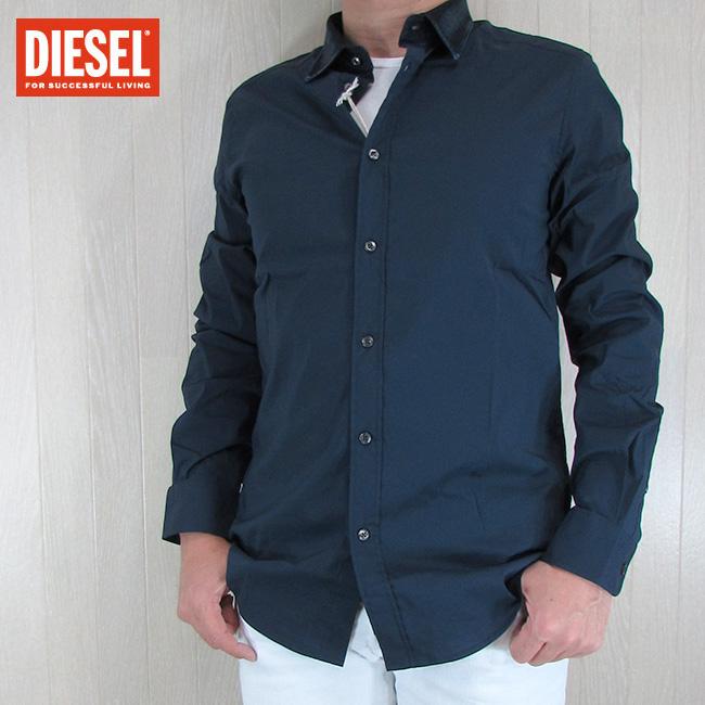ディーゼル DIESEL メンズ トップス 長袖シャツ S-KINSP-D/81E/ネイビー サイズ:L