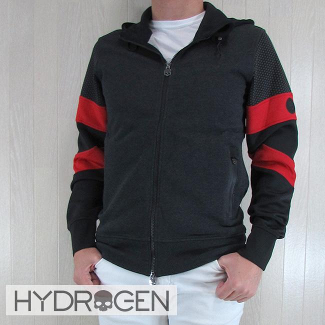 ハイドロゲン HYDROGEN パーカー ジップアップ ジャージ パーカー スウェット メンズ 225600/163/グレー サイズ:S~XXL