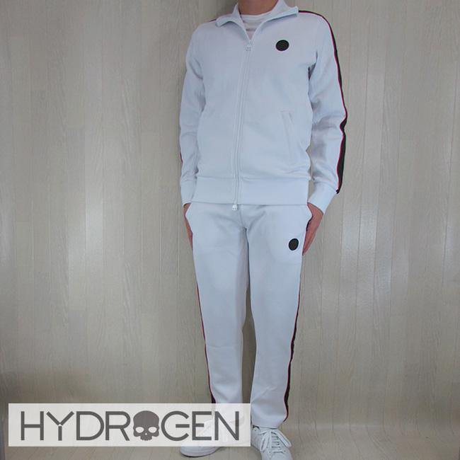 ハイドロゲン HYDROGEN セットアップジャージ メンズ スウェットパンツ ジップパーカー 225612 / 225614/001/ホワイト サイズ:S~XXL