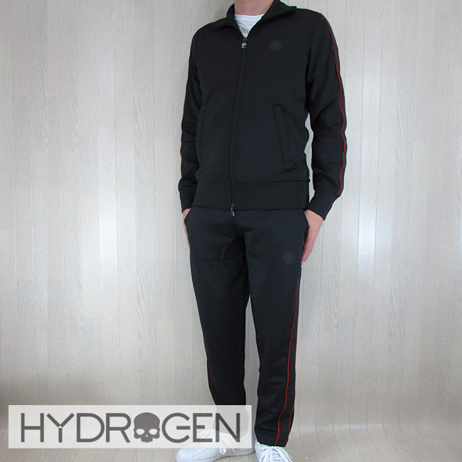 ハイドロゲン HYDROGEN セットアップジャージ メンズ スウェットパンツ ジップパーカー 225612 / 225614/007/ブラック サイズ:S~XXL