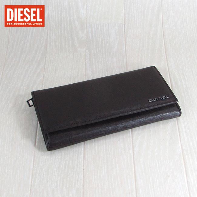 ディーゼル DIESEL 長財布 小銭入れ付 財布 メンズ 本革 レザー X04457 PR227/H6607/ブラック/イエロー