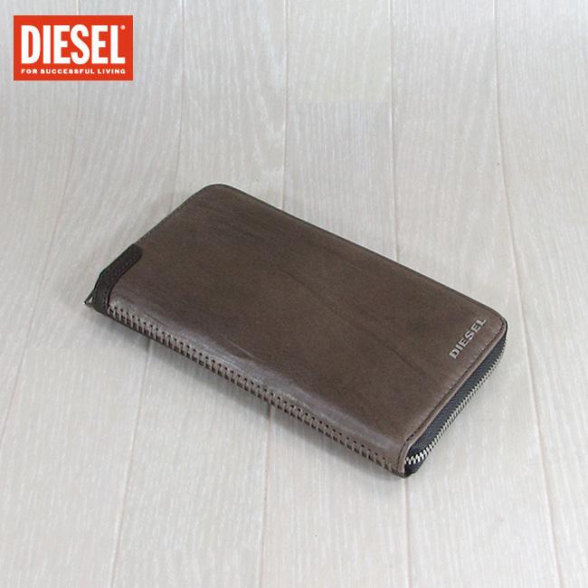 ディーゼル DIESEL 長財布 小銭入れ付 財布 メンズ 本革 レザー X05251 PR080/T8161/ブラウン