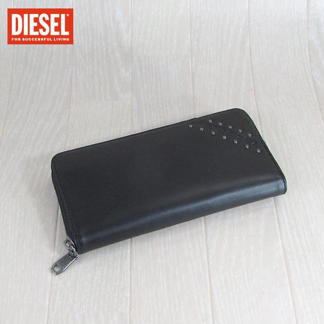 ディーゼル DIESEL 長財布 小銭入れ付 財布 メンズ 本革 レザー X05263 PR860/H4832/ブラック