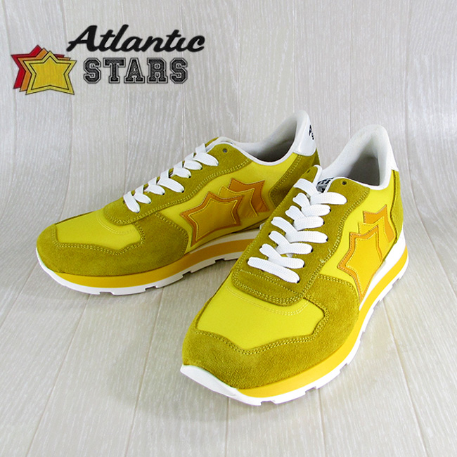 Atlantic STARS アトランティックスターズメンズ スニーカー イタリア シューズ 靴 ANTARES GS 36B/イエロー サイズ:40~45