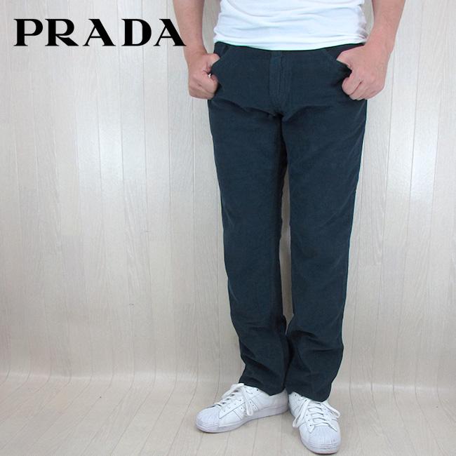 プラダ PRADA メンズ パンツ コーデュロイパンツ ボトム GEP178/ネイビー サイズ:29/30/31