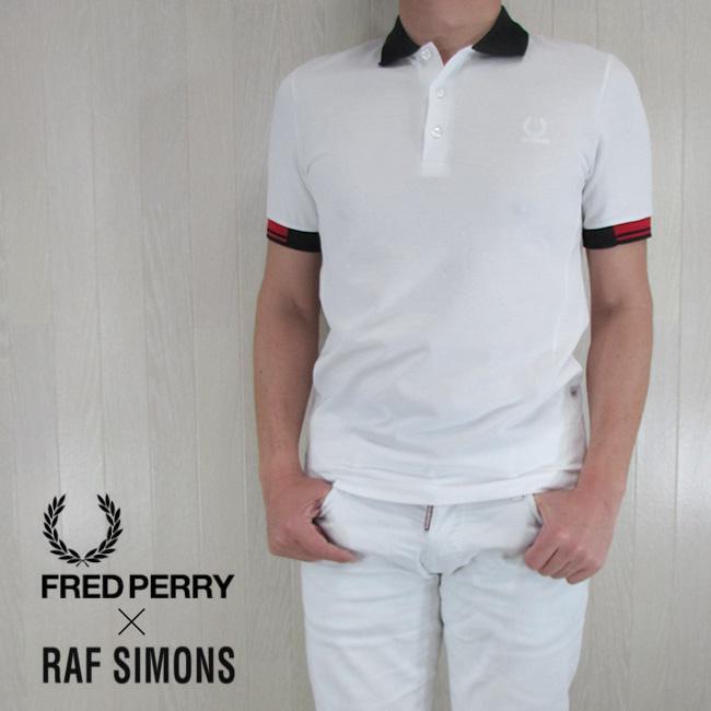 フレッドペリー ラフシモンズ FRED PERRY×RAF SIMONS メンズ ポロシャツ トップス SM1420/100/ホワイト サイズ:36