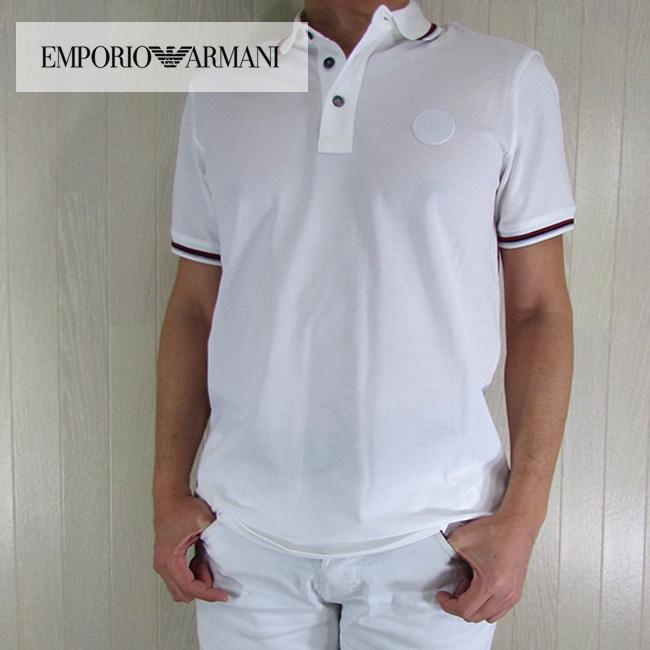 エンポリオ アルマーニ EMPORIO ARMANI メンズ 半袖 ポロシャツ 3Y1FB7 1JBCZ/100/ホワイト サイズ:S/M/L/XL