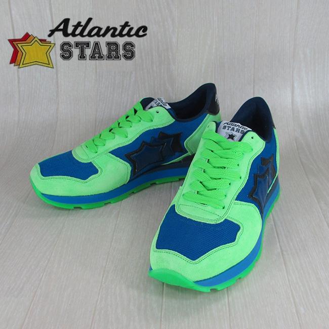 Atlantic STARS アトランティックスターズメンズ スニーカー イタリア シューズ 靴 ANTARES ATB 38NY/ブルー/グリーン サイズ:40~45