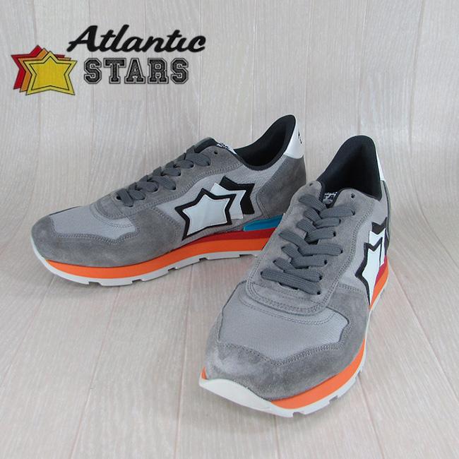 Atlantic STARS アトランティックスターズメンズ スニーカー イタリア シューズ 靴 ANTARES CS 85C/グレー サイズ:40~45