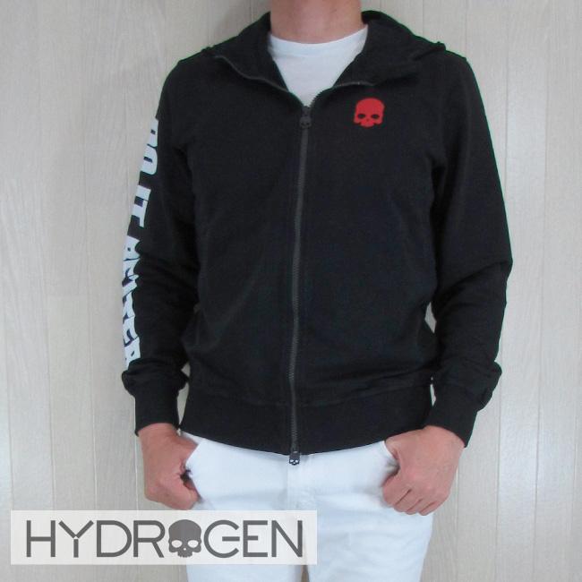 ハイドロゲン HYDROGEN パーカー ジップアップ ジップパーカー スウェット メンズ 220612 / 007 ブラック サイズ:S~XXL