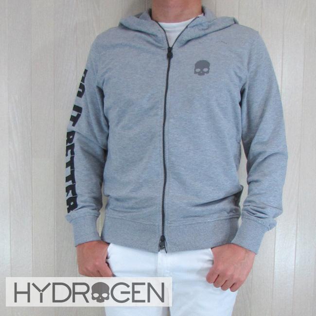 ハイドロゲン HYDROGEN パーカー ジップアップ ジップパーカー スウェット メンズ 220612 / 015 グレー サイズ:S~XXL