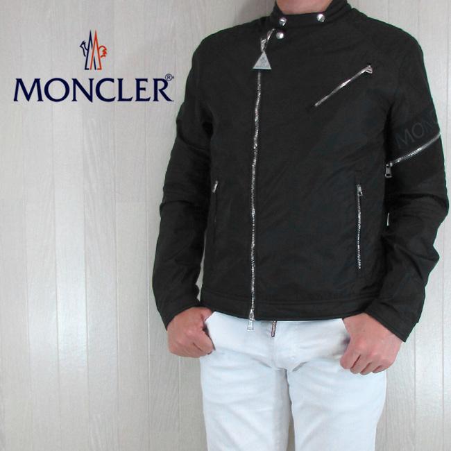 モンクレール MONCLER メンズ ジャケット ライダース ブルゾン アウター JAUR/4060000 54155/999/ブラック サイズ:1~4