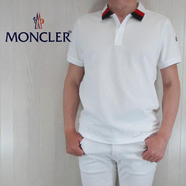 モンクレール MONCLER メンズ ポロシャツ 半袖 トップス 8305200 84556/004/ホワイト サイズ:S~XL