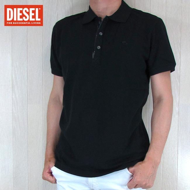 ディーゼル DIESEL ポロシャツ メンズ トップス 半袖 半袖ポロ T-KALARS / 900 / ブラック サイズ:S/M/L