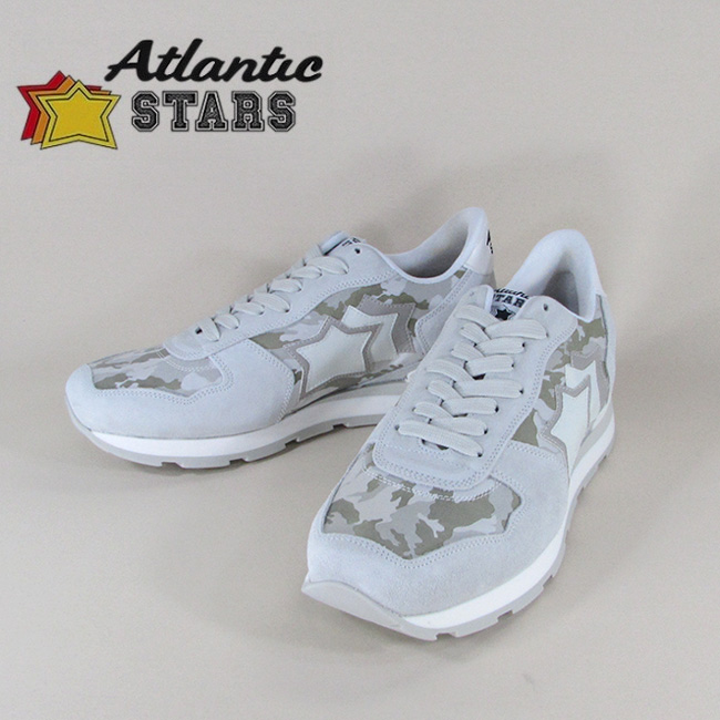 Atlantic STARS アトランティックスターズメンズ スニーカー イタリア シューズ 靴 ANTARES BMB 86B/ライトグレー サイズ:40~45