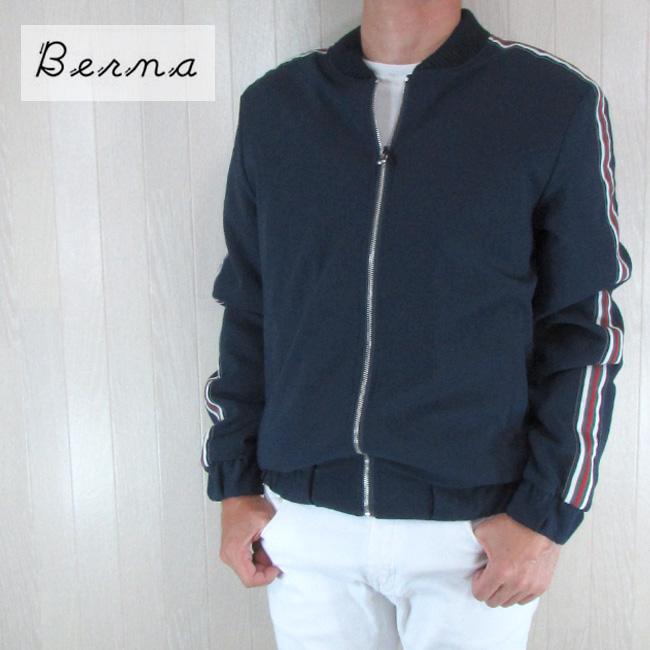 ベルーナ Berna ジャケット メンズ ブルゾン アウター ART.SIENA / ネイビー サイズ:S~XL