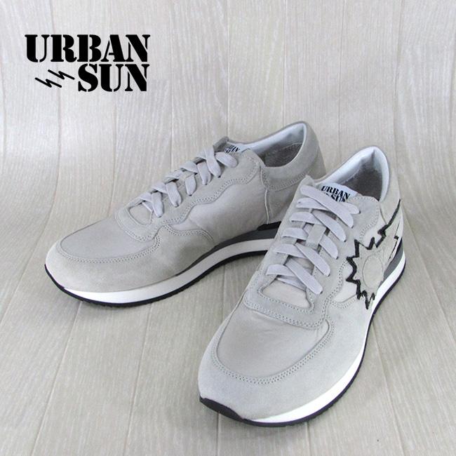 アーバンサン URBANSUN メンズ ローカット スニーカー 靴 シューズ アレイン ALAIN 100 / ライトグレー サイズ:40~43