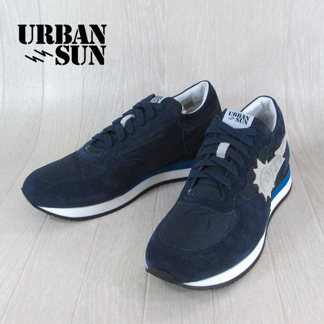 アーバンサン URBANSUN メンズ ローカット スニーカー 靴 シューズ アレイン ALAIN 104 / ネイビー サイズ:40~43