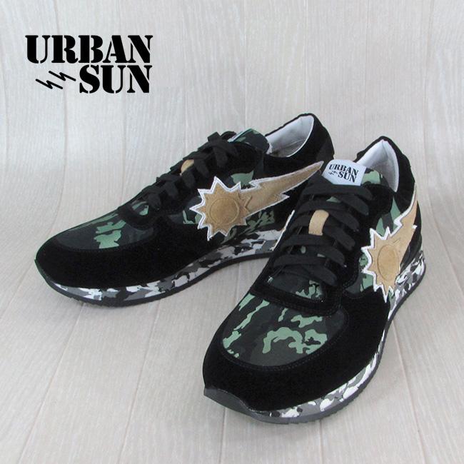 アーバンサン URBANSUN メンズ ローカット スニーカー 靴 シューズ アンドレ ANDRE 123 / ブラックカモフラージュ サイズ:40~43