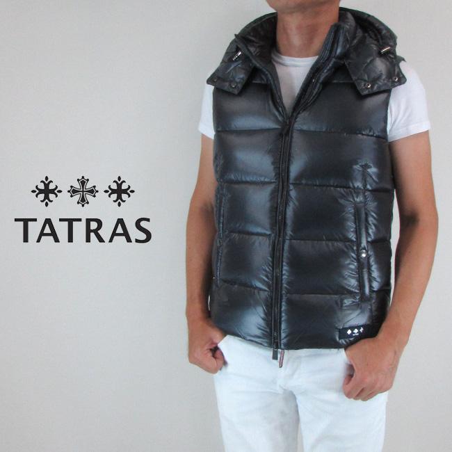 タトラス TATRAS ダウン メンズ ダウンベスト フード付き MTA19A4564 / NAVY / ネイビー サイズ:1~3