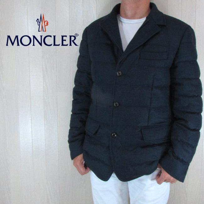 モンクレール MONCLER ダウンジャケット メンズ ダウンコート アウター ダウン RODIN / 4133400 57523 / 742 / ネイビー サイズ:4/5
