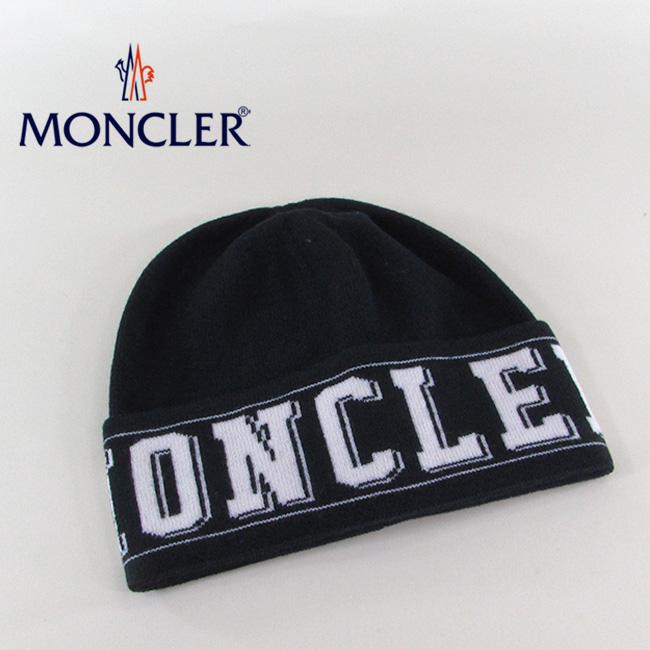 モンクレール MONCLER ニットキャップ ニット帽 ビーニー 帽子 9921800 959A2 / 742 / ネイビー