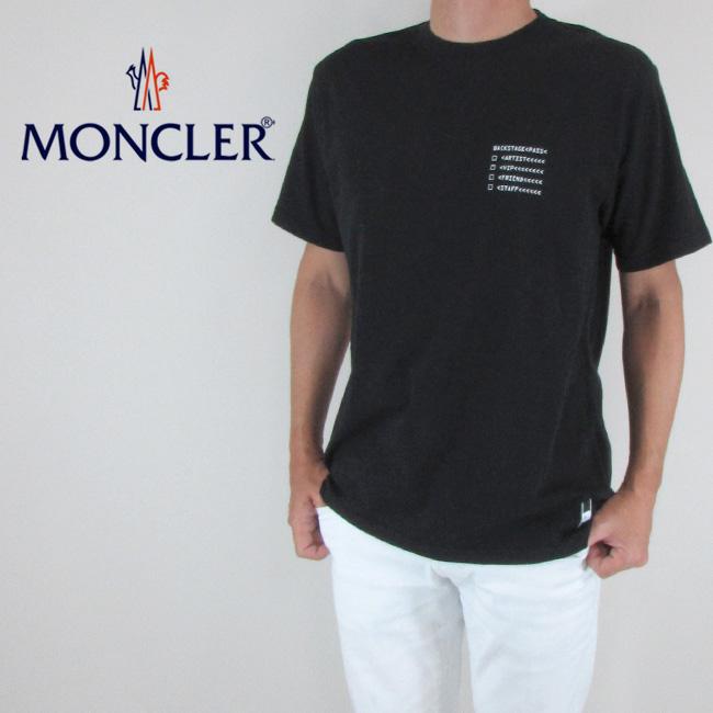 モンクレール ジーニアス MONCLER GENIUS メンズ Tシャツ 半袖 カットソー 8002050 8391Q / 999 / ブラック サイズ:S~L