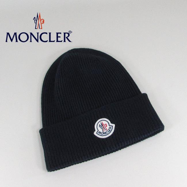 モンクレール MONCLER ニットキャップ ニット帽 ビーニー 帽子 0021700 04957 / 742 / ネイビー