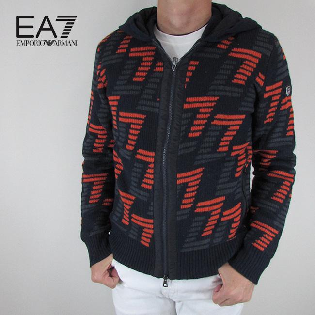 エンポリオアルマーニ EA7 EMPORIO ARMANI メンズ ニット ジップセーター ブルゾン ニットパーカー 6ZPBZ1 PM05Z / 1578 / ネイビー サイズ:S~2XL
