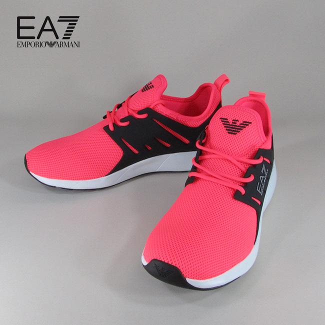 エンポリオアルマーニ EA7 EMPORIO ARMANI メンズ ローカット スニーカー シューズ 靴 X8X024 XCC06 / 00055 / コーラル サイズ:7~9