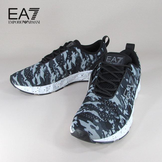 エンポリオアルマーニ EA7 EMPORIO ARMANI メンズ ローカット スニーカー シューズ 靴 X8X018 YK023 / A007 / グレー 灰 カモフラ サイズ:7~9