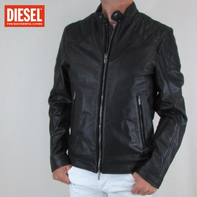 ディーゼル DIESEL ジャケット メンズ レザージャケット 本革 レザー LALETA / 900 / ブラック サイズ:S~XXL