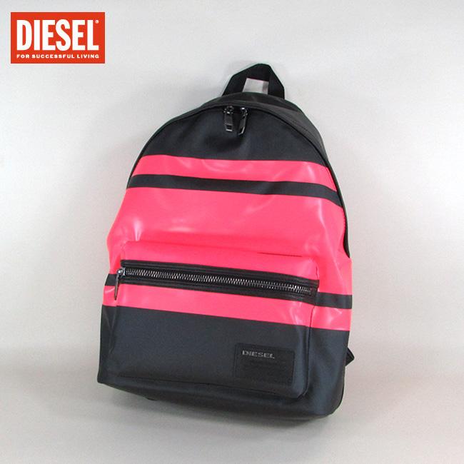 ディーゼル DIESEL メンズ バッグ リュック ユニセックス 鞄 13インチ ノートPC 収納可能 X04223 P1105 / H6259 / ブラック/ピンク