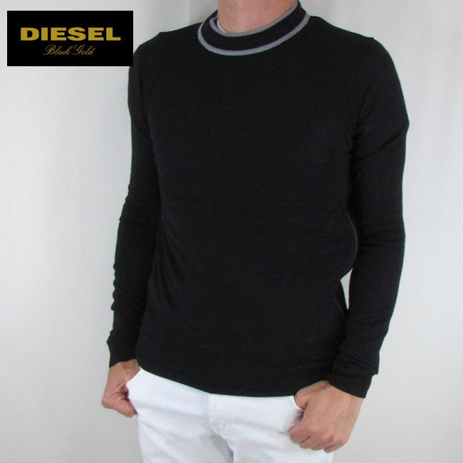 ディーゼル ブラックゴールド DIESEL BLACK GOLD メンズ ニット セーター 長袖 トップス KANZI-ZIP PULLOVER / 900 / ブラック サイズ:S