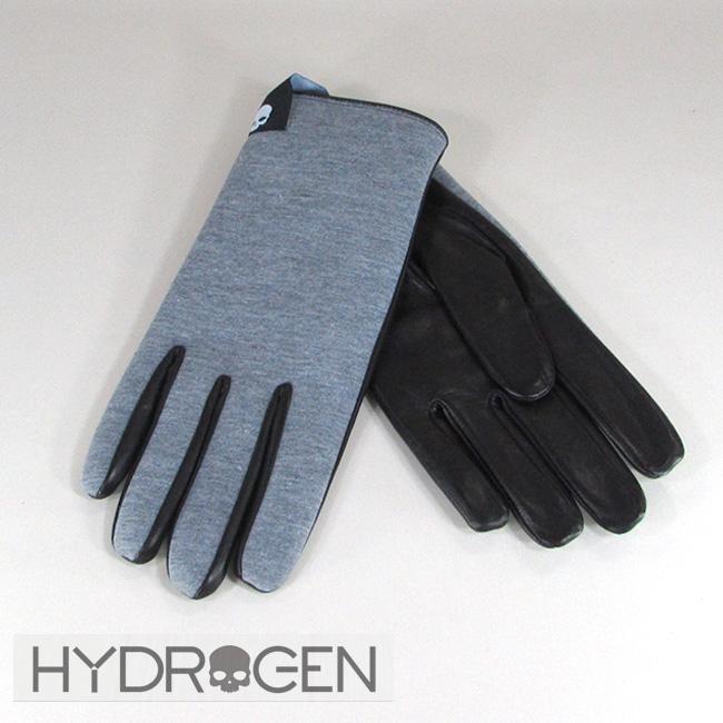 ハイドロゲン HYDROGEN メンズ レザーグローブ 手袋 小物 ギフト 233922 / 015 / グレー 灰 サイズ:S~L