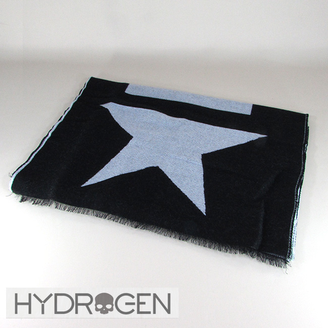 ハイドロゲン HYDROGEN マフラー ウールマフラー メンズ レディース ストール 233102 / 007 / ブラック