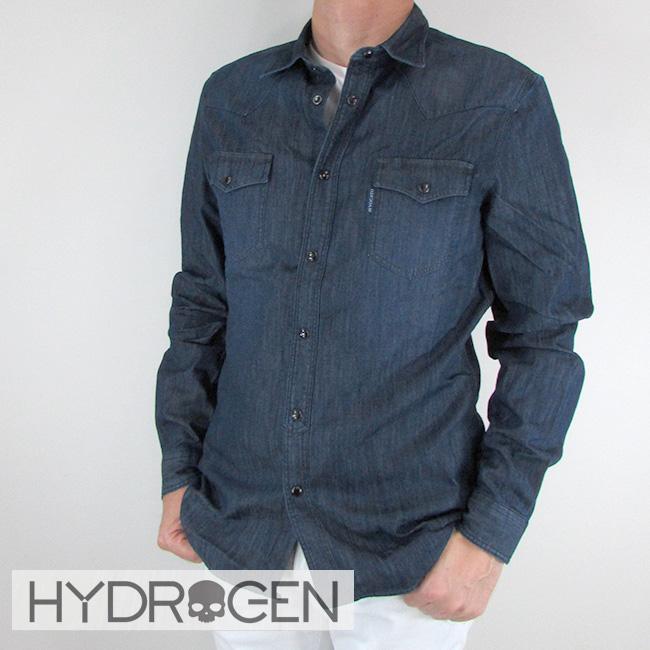ハイドロゲン HYDROGEN シャツ 長袖 メンズ 長袖シャツ 230510 / 045 / インディゴ サイズ:S~XL