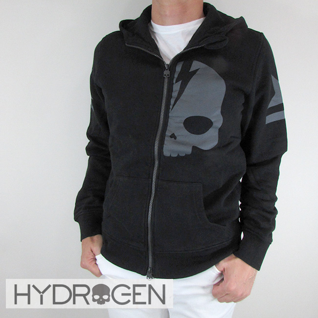 ハイドロゲン HYDROGEN パーカー ジップアップ パーカー スウェット メンズ 230642 / 007 / ブラック サイズ:S~XXL