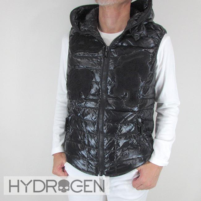 ハイドロゲン HYDROGEN メンズ ダウンベスト コラボモデル ダウン アウター 23D002 / 007 / ブラック サイズ:46~54