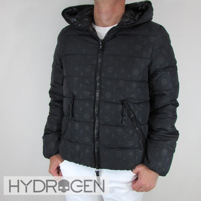 ハイドロゲン HYDROGEN メンズ ダウンジャケット コラボモデル スカル ダウン アウター 23D006 / 007 / ブラック 黒 サイズ:46~54