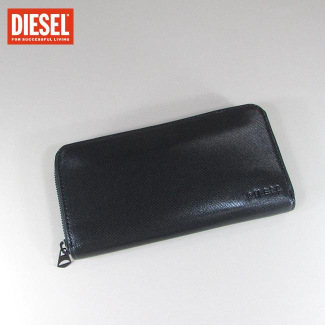 ディーゼル DIESEL ラウンドファスナー 長財布 小銭入れ付 財布 メンズ 本革 レザー X05995 P0114 / T8013 / ブラック