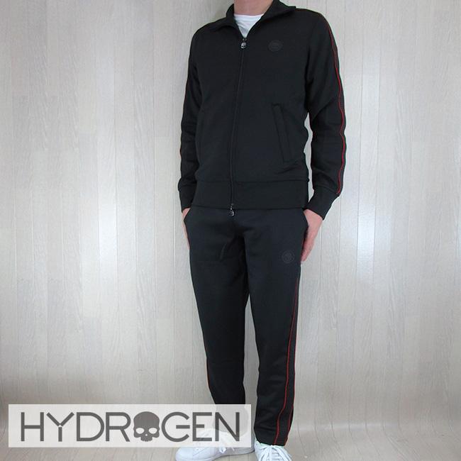 ハイドロゲン HYDROGEN ジャージ メンズ スウェット トラックジャケット 225612 / ブラック サイズ:M