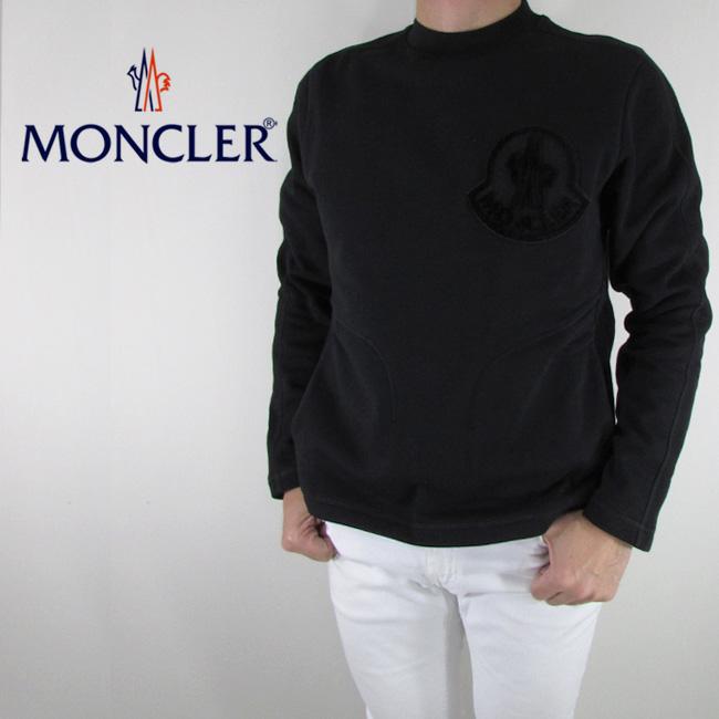 モンクレール MONCLER メンズ スウェット トレーナー プルオーバー 8035300 80451 / 999 / ブラック サイズ:S/M/L
