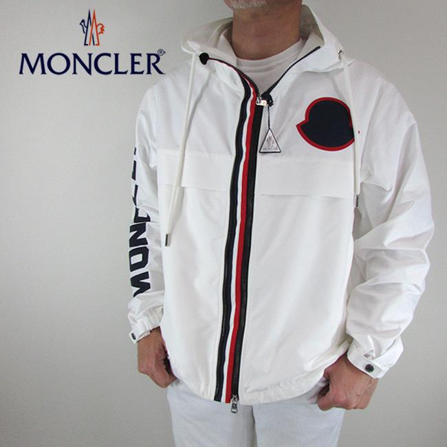 モンクレール MONCLER メンズ ブルゾン ナイロンジャケット アウター 4109105 C0025 / 040 / ホワイト 白 サイズ:1~4