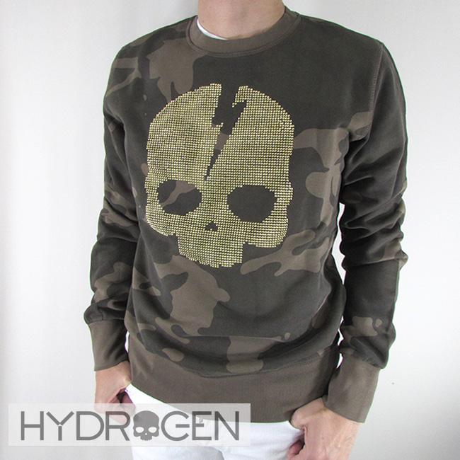 ハイドロゲン HYDROGEN スウェット トレーナー 長袖 スウェットシャツ 230120 / 060 / カモフラ サイズ:S~XL