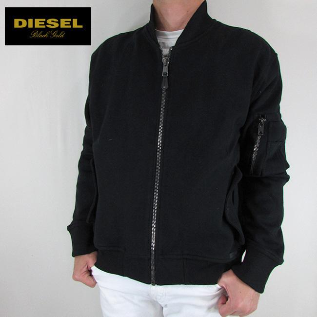 ディーゼル ブラックゴールド DIESEL BLACK GOLD メンズ パーカー フードパーカー ジップパーカー SYNES / 900 / ブラック サイズ:L