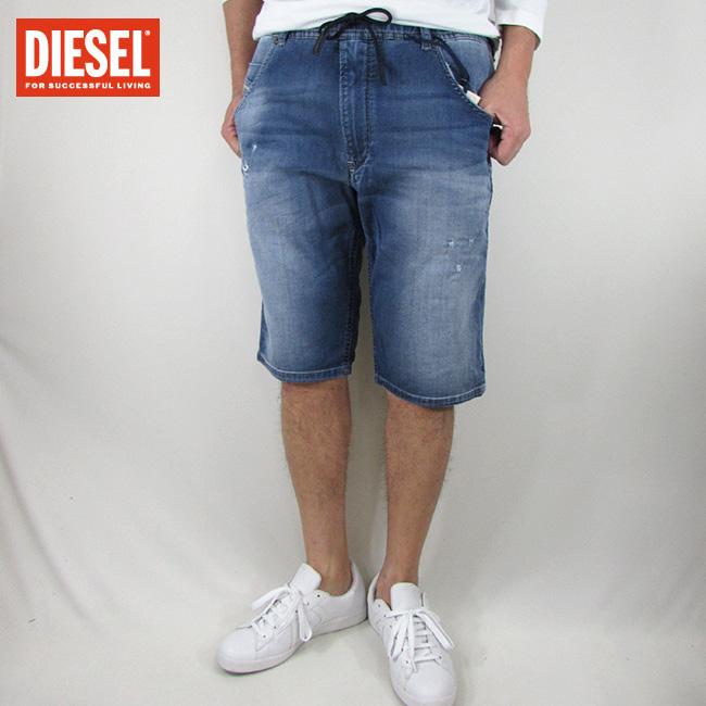 ディーゼル DIESEL ハーフパンツ ショートパンツ メンズ 短パン デニム ショーツ OOSVRB-C678M / KROOSHORT-NE / 01 / ブルー サイズ:32