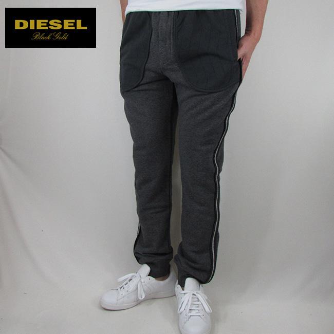 ディーゼル ブラックゴールド DIESEL BLACK GOLD メンズ スウェットパンツ パンツ スエット ボトムス OOSR8X-BGFEV / PORINOCO / 951 / チャコール サイズ:L