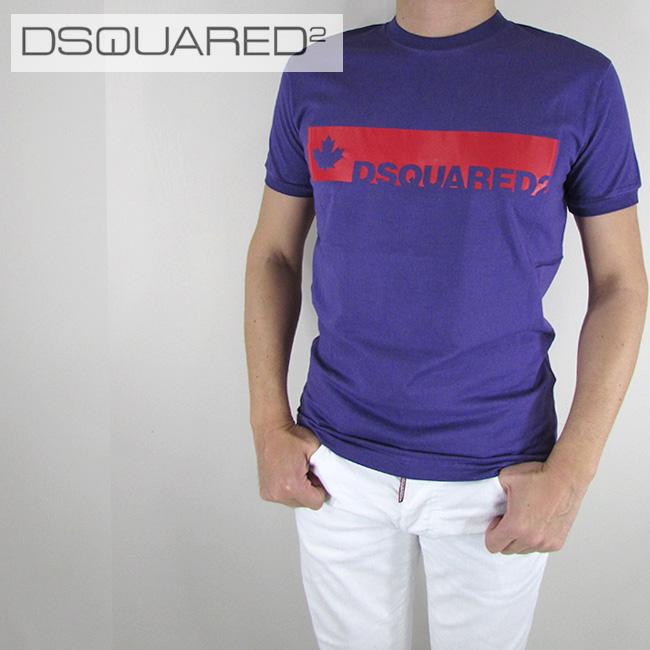 ディースクエアード DSQUARED2 メンズ Tシャツ 半袖 丸首 カットソー S74GD0274 / 393 / パープル サイズ:S~XL